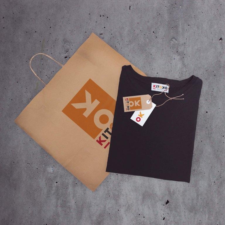 kitoko bag and t-shirt